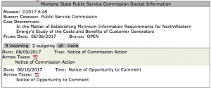 PSC docket example