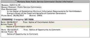 PSC docket example