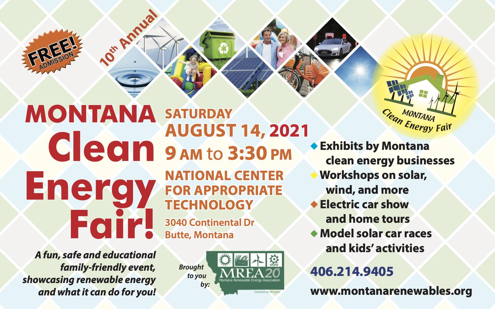 MT Clean Energy Fair 2021 postcard