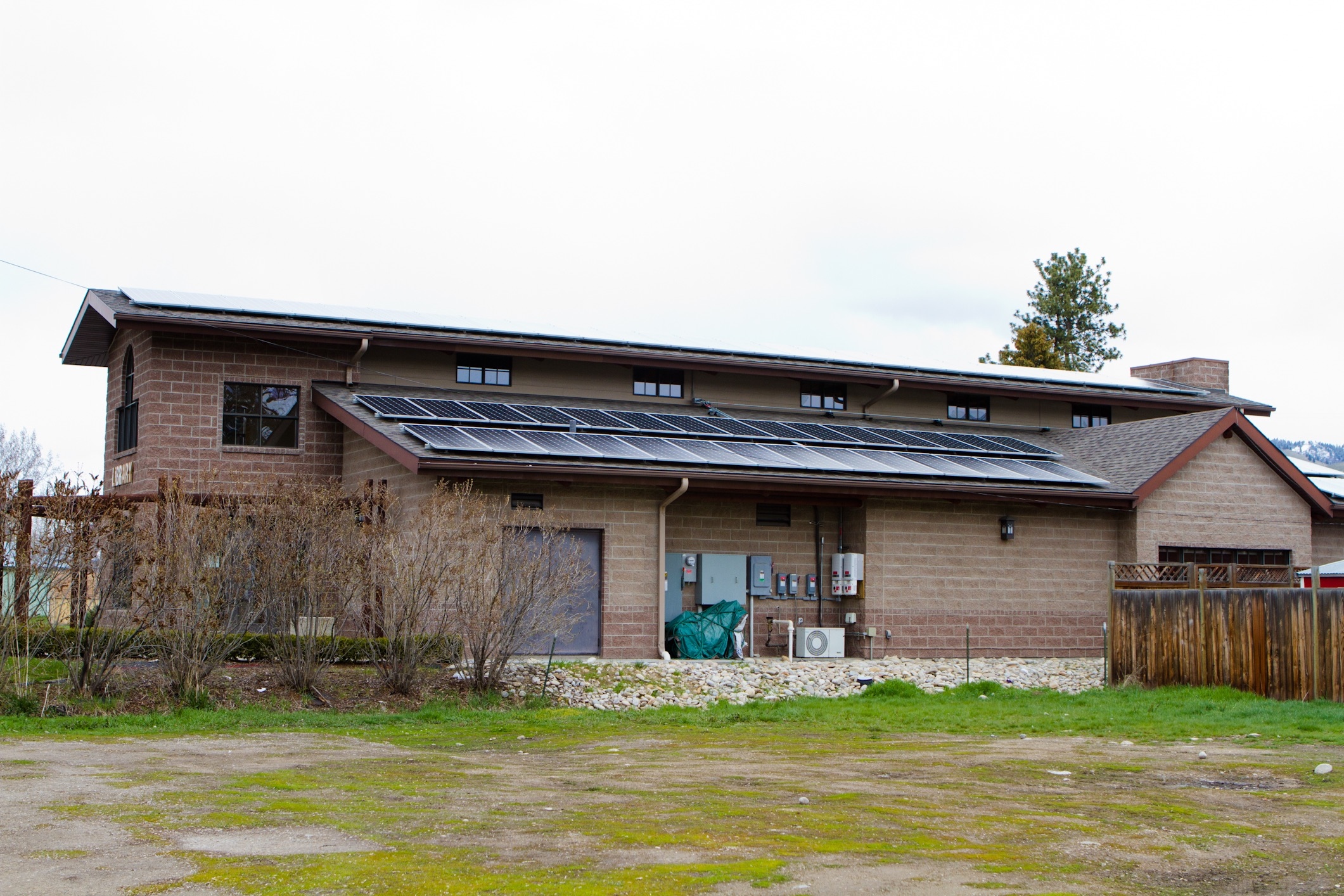 Darby Community Public Library to generate 88% of needs from solar PV